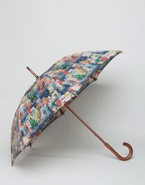 Cath Kidston Kensington Walking Umbrella in Town Houses Print