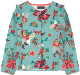 Catimini Print blouse with flounces