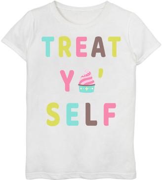 Licensed Character Girls 7-16 Treat Ya Self Ice Cream Icon Graphic Tee
