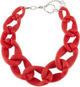 Diana Broussard Red Plexiglass Nate Chain Necklace