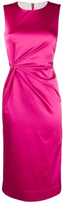 P.A.R.O.S.H. Ruched Waist Midi Dress