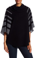 Cullen Striped Batwing Cashmere Poncho