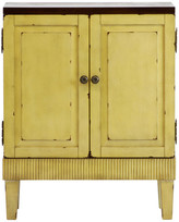 Lux Home Callie Hand Painted Distressed Ivory Wooden Accent Cabinet