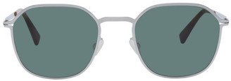 Mykita Silver and Green Lite Felix Sunglasses