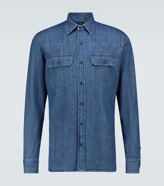 Ermenegildo Zegna Long-sleeved denim shirt