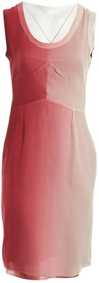 Prada Burgundy Silk Dresses