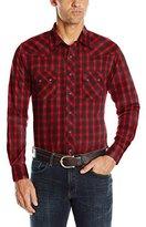 Wrangler Men's Long Sleeve Western Two Pocket Jean Shirt