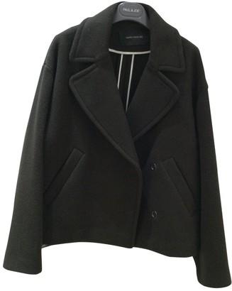 Cédric Charlier Khaki Wool Jacket for Women