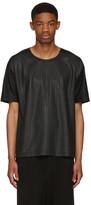 Issey Miyake Black Textured T-shirt