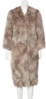 Anna Sui Long Textured Coat