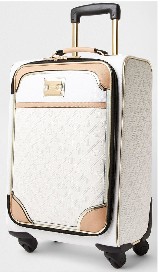 Thumbnail for your product : River Island Nude Emboss Suitcase