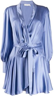 Zimmermann satin wrap dress