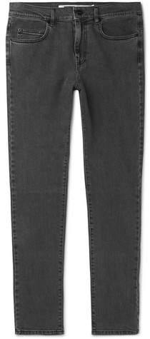 McQ Strummer Slim-Fit Panelled Stretch-Denim Jeans - Men - Gray
