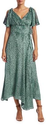 Cult Gaia Lilah Flutter-Sleeve Chiffon Dress