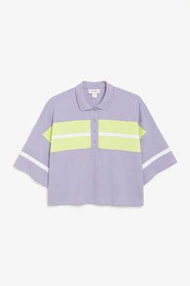 Monki Cropped polo t-shirt