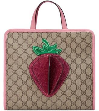 Gucci Children's GG 3-D strawberry tote