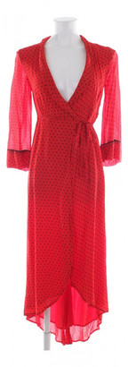 Ganni Red Silk Dresses