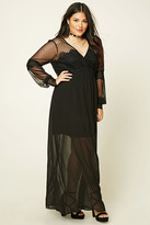 Forever 21 FOREVER 21+ Plus Size Lace Maxi Dress