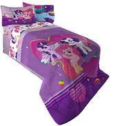Hasbro ML4398 My Little Pony Ponyfied Reversible Comforter, Twin/Full