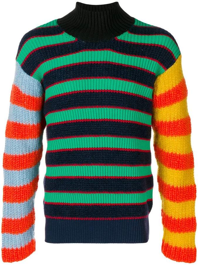 Kenzo mock neck knitted sweater