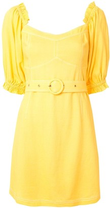 SUBOO Ines balloon sleeve mini dress