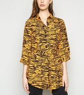 Thumbnail for your product : New Look Tiger Print Belted Longline Shirt