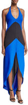 Karina Grimaldi Lulu Sleeveless Colorblock Maxi Dress, Blue