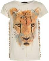Sisley Print Tshirt beige