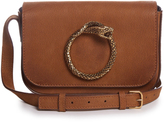 Saint Laurent Eddie Serpent leather satchel cross-body bag