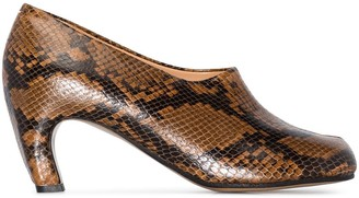 Maison Margiela python effect Tabi 60 pumps