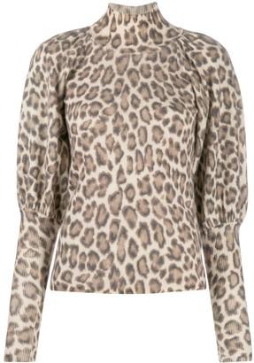 Zimmermann Leopard-Print Knitted Top