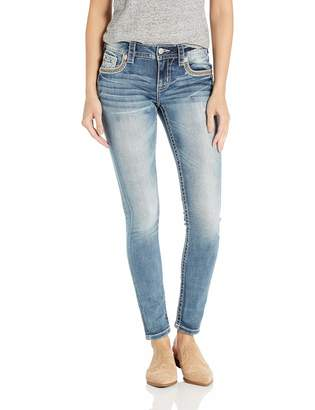 Miss Me Women's Mid Rise Hailey Skinny Jeans