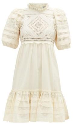 Sea Talitha Ruffled Cotton Broderie-anglaise Dress - Cream