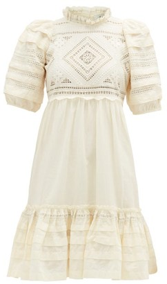 Sea Talitha Ruffled Cotton Broderie-anglaise Dress - Womens - Cream