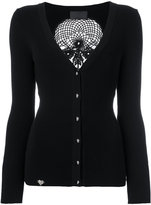 Philipp Plein skull knit cardigan - women - Polyester/Viscose - M
