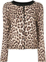 Twin-Set leopard print cardigan