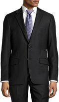 Hickey Freeman Classic-Fit Solid Two-Piece Suit, Black