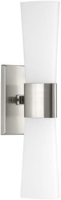 Progress Lighting Zura Collection 2-Light Bath and Vanity, Brushed Nickel