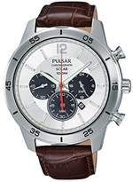 Pulsar Men's Watch Solar Chronograph Quartz Leather PX5049X1
