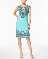 JM Collection Printed Keyhole Dress, Only at Macy's