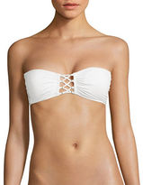 Michael Kors Lace-Up Bandeau Bikini Top