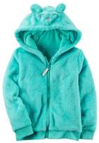 Carter's Toddler Girls Fuzzy Mouse Character Hoodie