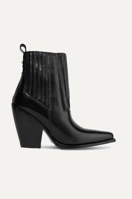 Valentino Garavani Ranch 95 Leather Ankle Boots - Black