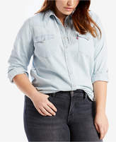 Levi's Plus Size Cotton Western Shirt