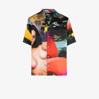 Edward Crutchley X Erik Jones Pauline print silk shirt