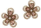 Anne Klein Natural Blossom Goldtone Floral Stud Earrings