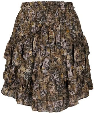 IRO Lenita ruffle skirt
