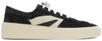 Fear Of God Black and Grey Skate Low Suede Sneakers