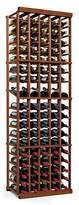 GIFTS PLAZA Dark Walnut Mahogany Wine Rack Kit - 5 Column With Display