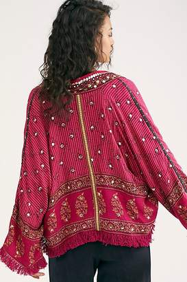 Free People Rays Of Light Jacket by Free People, Raspberry, XS